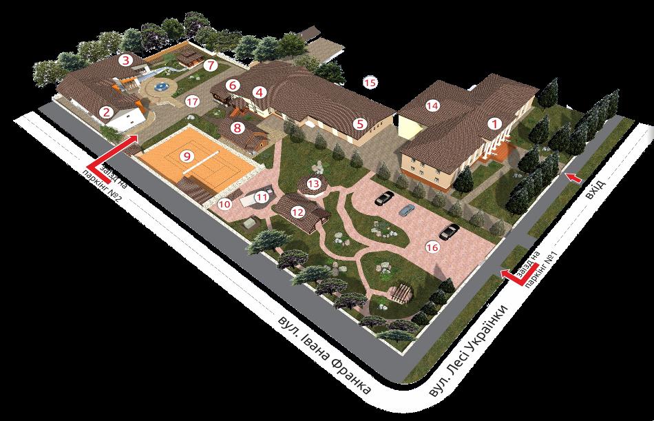 План-схема комплексу Гала Готель Кам'янець-Подільський