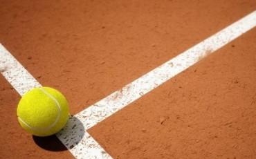 Тенісний м'яч на корті у готелі Кам'янця-Подільського